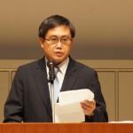 挨拶するビジネスガイド社芳賀信享代表取締役社長